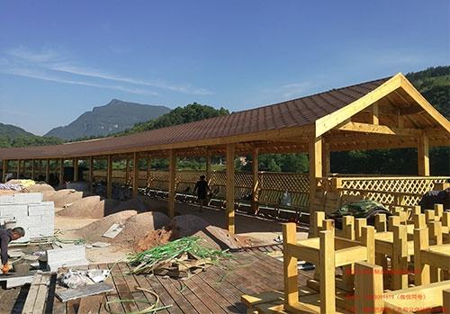 慈利水上世界防腐木长廊工程
