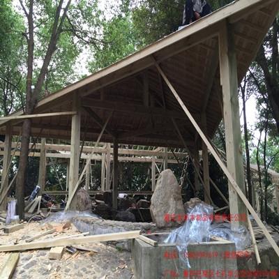 湖南万福温泉防腐木木屋工程