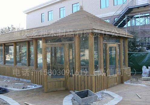 钢化玻璃防腐凉亭